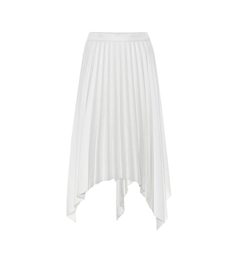 Acne Studios - Pleated wool and cotton-blend skirt - mytheresa.com