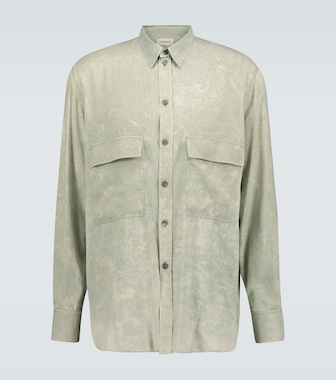 Rochas - Quartilla long-sleeved silk shirt - mytheresa.com