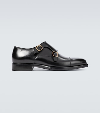 Tom Ford - Wessex leather monk strap shoes - mytheresa.com