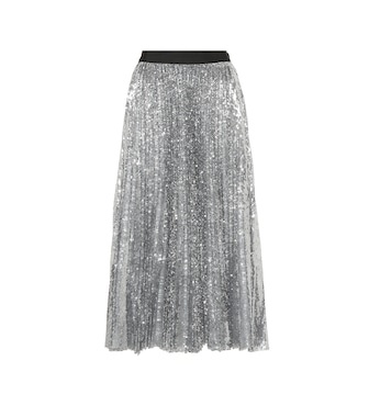 MSGM - Pleated sequinned midi skirt - mytheresa.com