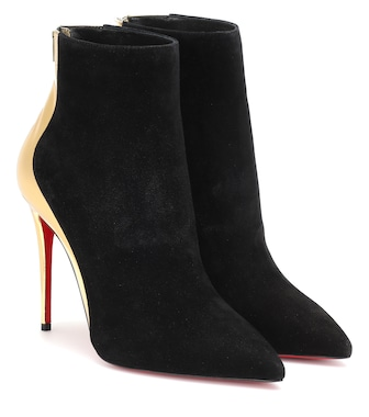 Christian Louboutin - Delicotte 100 suede ankle boots - mytheresa.com