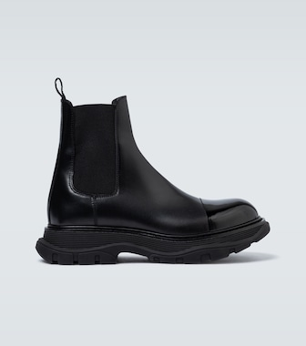 Alexander McQueen - Chunky sole leather boots - mytheresa.com