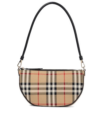 Burberry - Olympia Pouch checked shoulder bag - mytheresa.com