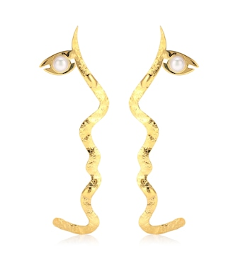 Anissa Kermiche - x Rejina Pyo Grande Tete a Tete 18kt gold-plated pearl earrings - mytheresa.com