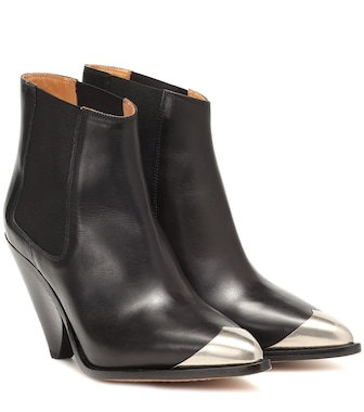 Isabel Marant - Lemsey leather ankle boots - mytheresa.com