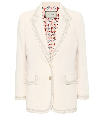 Gucci - Embroidered cady blazer - mytheresa.com