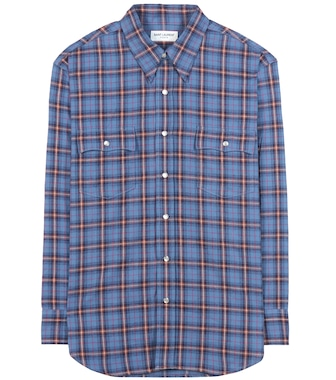 Saint Laurent - Check cotton shirt - mytheresa.com