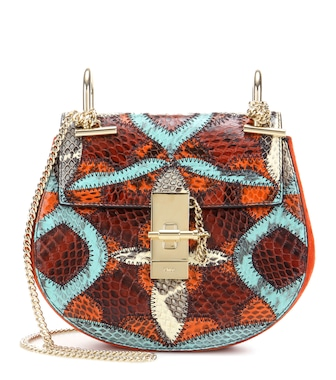 Chloé - Sac cross-body en daim et serpent Drew Mini - mytheresa.com