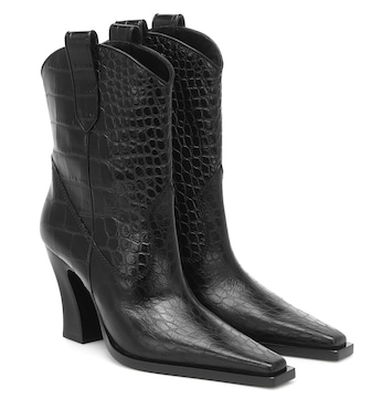 Tom Ford - Croc-effect leather Western boots - mytheresa.com