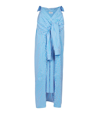 Balenciaga - Striped cotton poplin maxi skirt - mytheresa.com