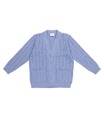 FENDI Kids - FF pointelle-knit cardigan - mytheresa.com