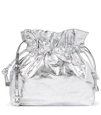 Isabel Marant - Ailey metallic leather pouch - mytheresa.com