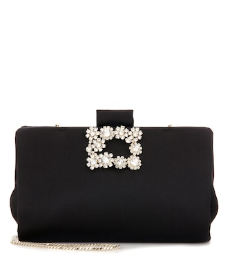 Roger Vivier - Soft Flowers embellished clutch - mytheresa.com