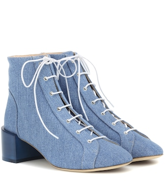 Acne Studios - Mable denim ankle boots - mytheresa.com