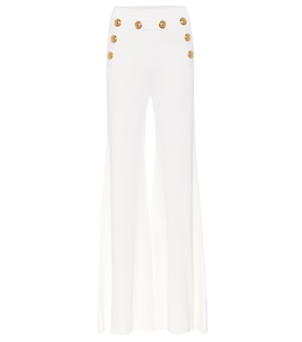 Balmain - Embellished high-rise pants - mytheresa.com