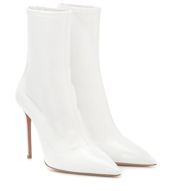 Aquazzura - Zen 105 patent leather ankle boots - mytheresa.com