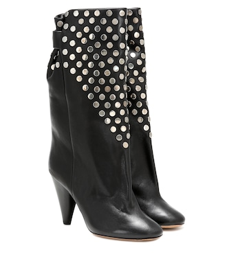 Isabel Marant - Lafkee studded leather boots - mytheresa.com