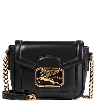 ETRO - Pegaso Mini leather shoulder bag - mytheresa.com