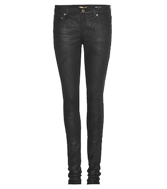 Saint Laurent - Coated skinny jeans - mytheresa.com