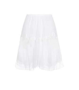 Chloé - Cotton lace skirt - mytheresa.com