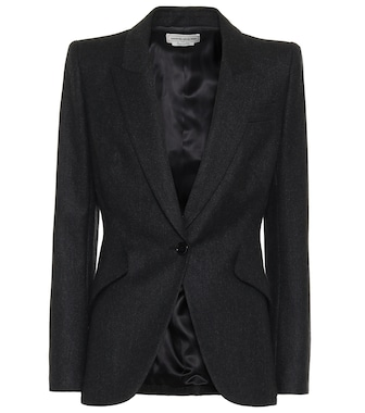 Alexander McQueen - Single-breasted wool blazer - mytheresa.com