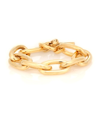 Tilly Sveaas - Large Oval 18kt gold-plated link bracelet - mytheresa.com