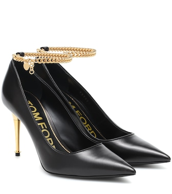 Tom Ford - Chain-trimmed leather pumps - mytheresa.com