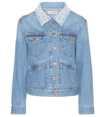 Isabel Marant, Étoile - Christa beaded denim jacket - mytheresa.com