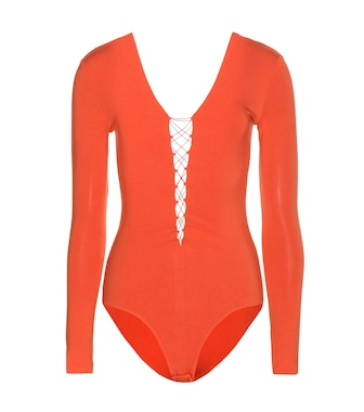 T by Alexander Wang - Lace-up bodysuit - mytheresa.com