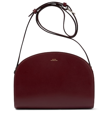 A.P.C. - Demi-Lune leather shoulder bag - mytheresa.com