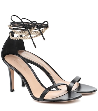 Gianvito Rossi - Vitello 85 leather sandals - mytheresa.com