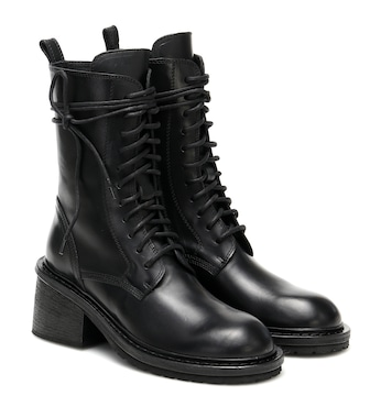 Ann Demeulemeester - Leather ankle boots - mytheresa.com