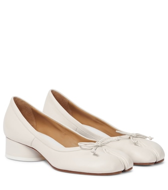 Maison Margiela - Tabi leather ballet pumps - mytheresa.com