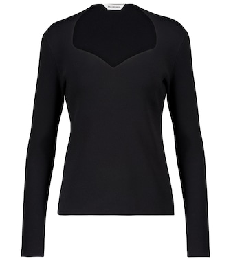 Balenciaga - Stretch-knit top - mytheresa.com