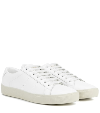 Saint Laurent - Leather low-top sneakers - mytheresa.com