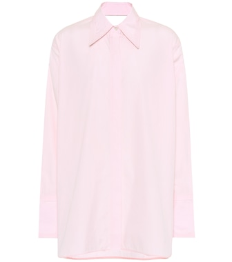 Helmut Lang - Camicia in cotone con cut-out - mytheresa.com