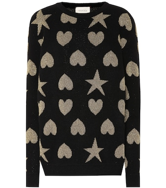 Gucci - Hearts and stars wool-blend sweater - mytheresa.com