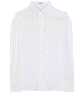 Miu Miu - Ruffled silk shirt - mytheresa.com