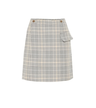 Acne Studios - Ivonne checked cotton-blend skirt - mytheresa.com