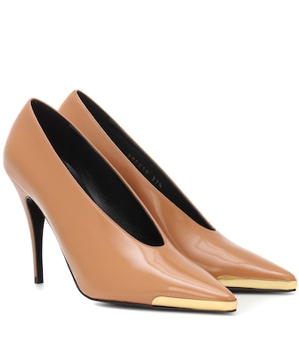 Stella McCartney - Patent faux leather pumps - mytheresa.com