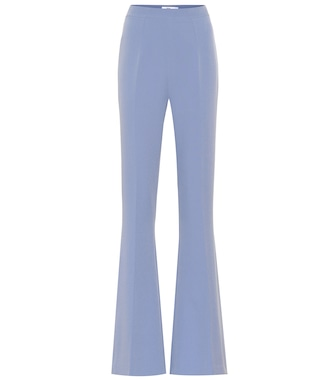 Safiyaa - Hallie crêpe high-rise flared pants - mytheresa.com