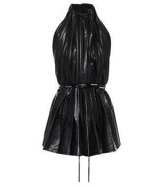 Ellery - Philodemus faux-leather top - mytheresa.com