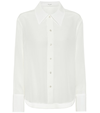 Saint Laurent - Silk-satin shirt - mytheresa.com