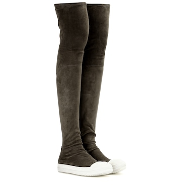 Rick Owens - High Sock suede over-the-knee boots - mytheresa.com