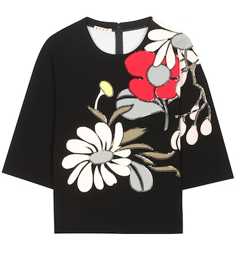 Marni - Sequinned cotton top - mytheresa.com