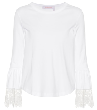 See By Chloé - Lace-trimmed cotton top - mytheresa.com