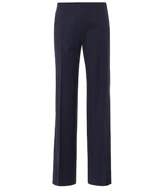 Chloé - Mid-rise wide-leg wool-blend pants - mytheresa.com