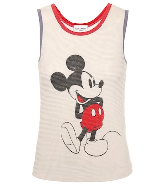 Saint Laurent - Mickey Mouse cotton tank top - mytheresa.com