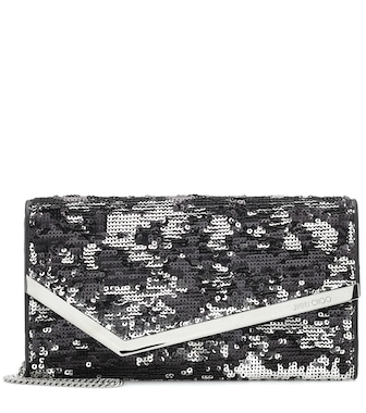 Jimmy Choo - Emmie sequinned clutch - mytheresa.com