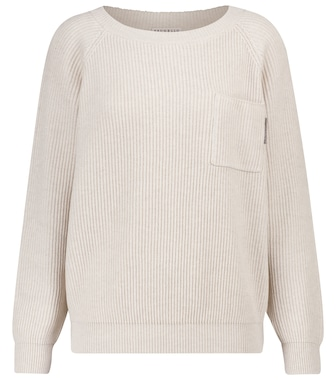 Brunello Cucinelli - Ribbed-knit cotton sweater - mytheresa.com